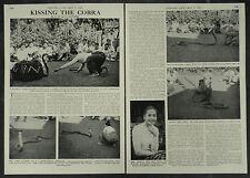 Burma Kissing The Cobra Snake Charmer Win Min Than 1956 2 Page Photo Article