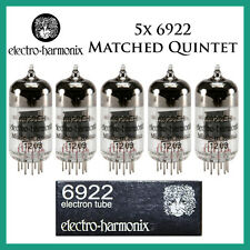 New 5x Electro Harmonix 6922 / E88CC / 6DJ8 | Matched Quintet / Five | EH