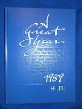 1989 NEW RIEGEL OH HIGH SCHOOL YEARBOOK Annual HI-LITE Blue Jackets