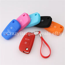 Silicon Key fob REMOTE HOLDER CASE COVER For Audi A6 A4 A1 S3 S4 RS4 RS6 S6