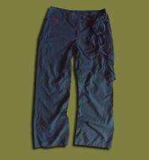 ADIDAS..UK 14..WOMEN'S GREY BLUE LOOSE CARGO TRACKSUIT WIDE LEG TIE TROUSERS
