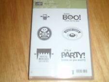 Stampin Up Rubber Stamp Monster Munchies 6 PC Set Halloween