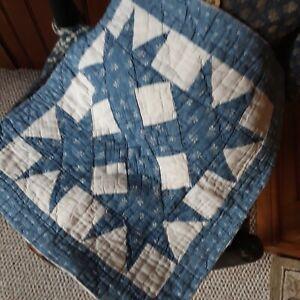 Antique quilt pc blue calico