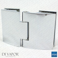 Di Vapor (R) Glass to Glass Clam Shell Hinge for Heavy Glass Shower Door