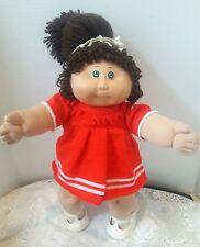 Vintage 1985 Jesmar Spain Brown Hair Green Eyes Cabbage Patch Kid Doll - Rare