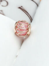 Genuine Pandora ALE R Rose Gold  Intertwining Radiance Pink Charm 781968PCZ PC5