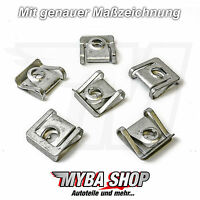 10x Motor Protection Skid Plate Metal Halterklammern for VW Audi Passat Skoda