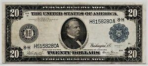 "VERY TOUGH 1914 LARGE SIZE $20 ""GLASS"" ST. LOUIS FR-993"