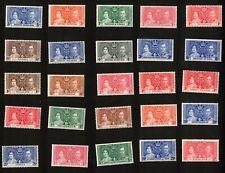 King George Vi 1937 Coronation Crown Colonies Stamps