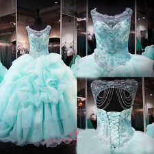 Mint Sweet 16 Quinceanera Dresses for 15 Years Party Ball Gown Formal Prom Dress