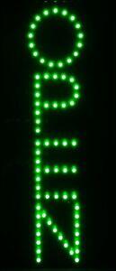 LED Schilder Open Grün vertikale geöffnet Reklame Schild Neon Animation 50X24cm