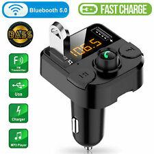 3.1A Bluetooth FM Transmitter Auto Kfz Radio Adapter mit Dual USB Ladegerät