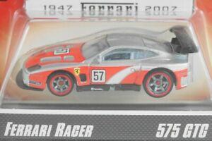 HOT WHEELS 2007 FERRARI RACER #16 575 GTC SILVER / RED #57
