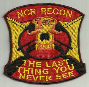 FIRST RECON 1'ST FLAG COSPLAY FALLOUT PATCH SIGN NCR VEGAS BOONE