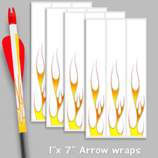 "Arrow wraps White thin flames 1""x 7"" for arrow building bow hunting target 3D"