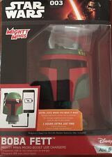 New In Box STAR WARS Boba Fett Mighty Minis Micro-Boost USB Chargers