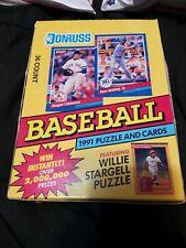 1991 Donruss Baseball Series 1 Card Wax Box 36 packs