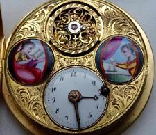 MUSEUM 18th C. gild&enamel Verge Fusee Regulator watch for Louis XIV Court