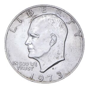 SPECIALLY MINTED S Mint Mark 1973-S 40% Eisenhower Silver Dollar RARE *539