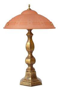 Schwere original Art Deco Prunkleuchte Salonlampe Schreibtischlampe Bronze 1930