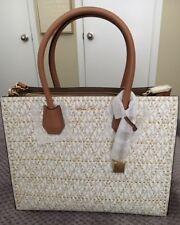 NWT Michael Kors Mercer Stud/Grommet Large Handbag ~ Vanilla ~ 30F7GZ4T3V MP$378