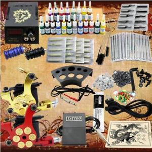 Kit de Tatuaje Completo Rotary Machine Maquina para Tatuar Motor 20 Tintas