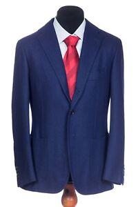 Recent Cesare Attolini purple blue wool sport coat blazer EU 48 US 38 7R