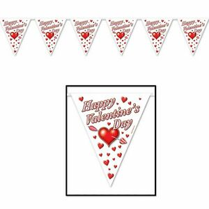 Happy Valentines Day 12ft Flag Bunting