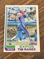"Vintage 1982 Topps #70 TIM ""Rock"" RAINES Expos White Sox OF 2B HOF RARE NrMt/Mt"