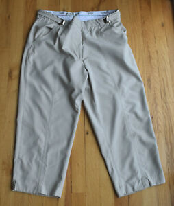 LPGA Ladies Professional Golf Association sand-color crop pants (10) adjustable