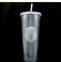 New Starbucks Winter Holiday Tumbler 2019 Venti Platinum Studded Bling Cold Cup