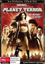 PLANET TERROR DVD=2 DISC EXTENDED EDITION=REGION 4 AUSTRALIAN=NEW AND SEALED