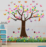 Owl Butterfly Tree Flower Wall Stickers Decal Nursery Kids Decor Mural Art Paper