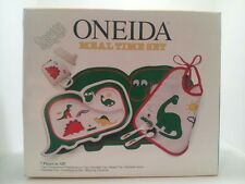 ONEIDA CHILDS MEAL TIME DINNER SET ONEIDASAURUS STONE AGE FRIENDS