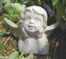 Latex only small wondering angel mold plaster concrete mould