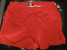 NEW 2XB 2XL BIG 2XLB Ralph Lauren POLO Swimsuit Solid RED with a BLACK PONY $60