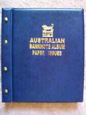 AUSTRALIAN DECIMAL PAPER BANKNOTE ALBUM BLUE Colour - 1966 to Present