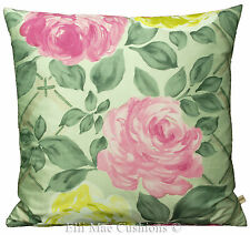 Designers Guild Vionnet Silk Pink Yellow Green Floral Cushion Pillow Cover
