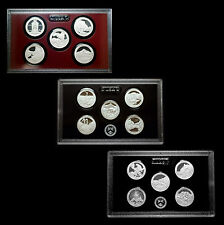 2010 2011 2012 S America the Beautiful National Park U.S. Mint Proof Silver Sets