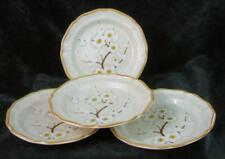 Set of Four - MIKASA - WHITE PETALS - SALAD PLATES - Mint Condition