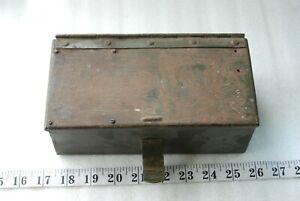 vintage army  spare parts box make great chopper bobber  toolbox