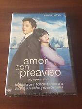 AMOR CON PREAVISO - 1 DVD CON EXTRAS - 97 MIN - NEW SEALED - NUEVO EMBALADO