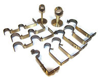 Brass Gold Curtain Pole Brackets Double 19mm 28mm 35mm Ceiling Wall Adjustable
