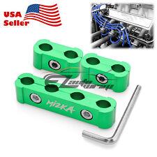 3Pcs Green Aluminum Engine Spark Plug Wire Separator Divider Organizer Clamp Kit