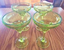 Green ACRYLIC MARGARITA MARTINI COCKTAIL 6 oz GLASSES set of 4