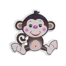 6 Novedad Cheeky café Mono de costura de madera Botones de artesanía 29mm