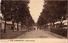 CPA Militaire, Camp d'Oberhoffen - L'Allee principale (362443)