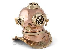 Vintage Nautical Scuba Divers Helmet Brass Antique US Navy Mk V Shelf Size Gift