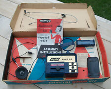 Vintage Remco Toys Radiocraft Crystal Radio Kit in Original Box Complete Nr