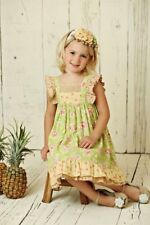 Mustard Pie Andalusia Tangerine Girls Dress Ruffle Andalusia Girls sz 18 Months
